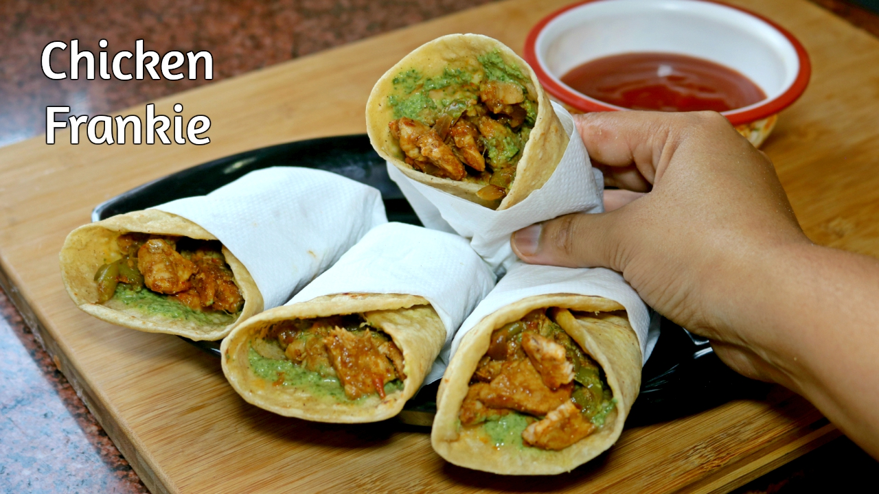 Martinas recipes chicken kathi roll chicken frankie popular chicken kathi roll or chicken frankie is a popular indian street food which is coated with forumfinder Image collections