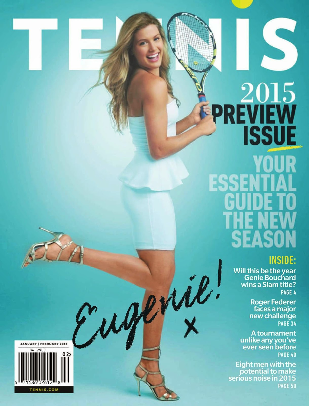 Eugenie Bouchard covers Tennis Magazine January/February 2015