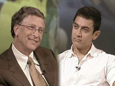 Bill Gates and Aamir Khan interview