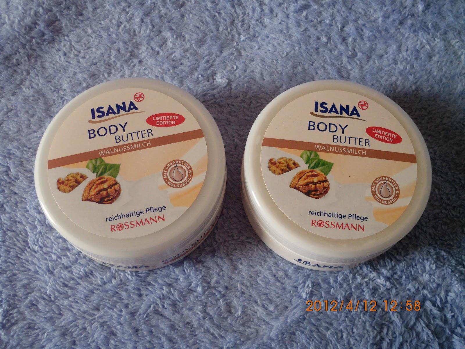 Isana body butter walnussmilch - masło do ciała orzech włoski i mleko