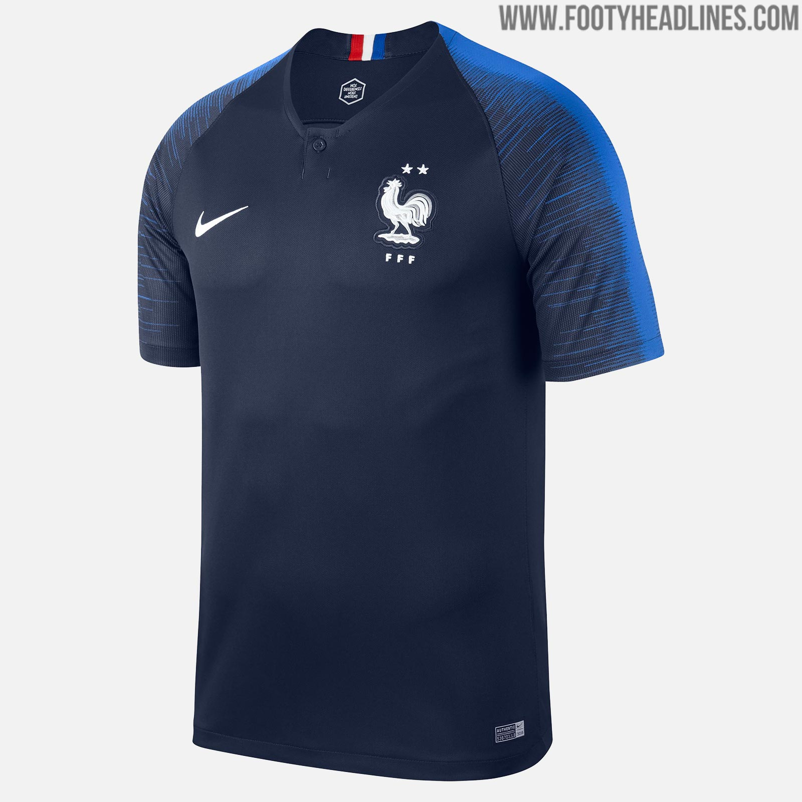 8a291bb4b37 The Nike France 2 Star jersey is an updated version of the France 2018  World Cup kit featuring two stars to celebrate France's second World Cup  title.