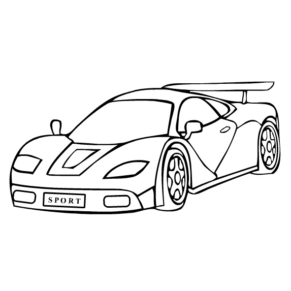 free sports car coloring page. Black Bedroom Furniture Sets. Home Design Ideas