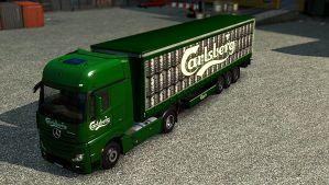Carlsberg pack for Mercedes MP IV
