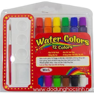 Màu nước tuýp 12 màu W-11 (WinQ)