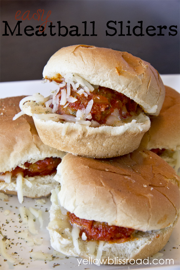 Easy Meatball Sliders - a quick and delicious weeknight meal, or the perfect party appetizer for your summer party!