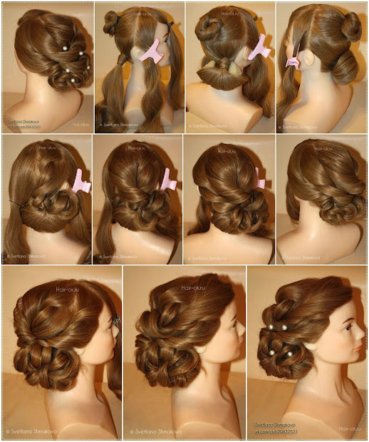 holiday hairstyle step