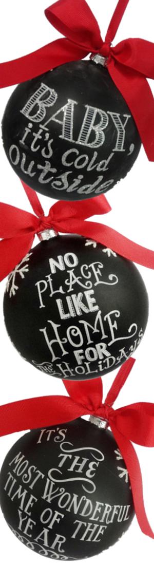 Sage & Co Chalkboard Ornaments.