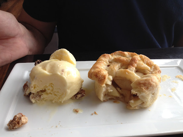 mini apple pie and butter pecan ice cream at American Sector in New Orleans, LA