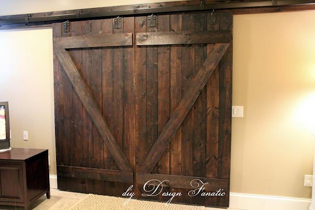 barn doors, diy barn doors, how to make barn doors, cottage, farmhouse, farmhouse style, basement, barn door hardware, diyDesignFanatic.com