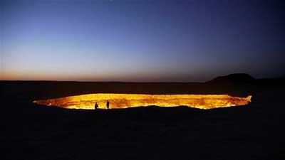 Kawah Gas Turkmenistan