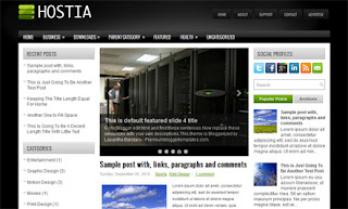 Hostia Blogger Template