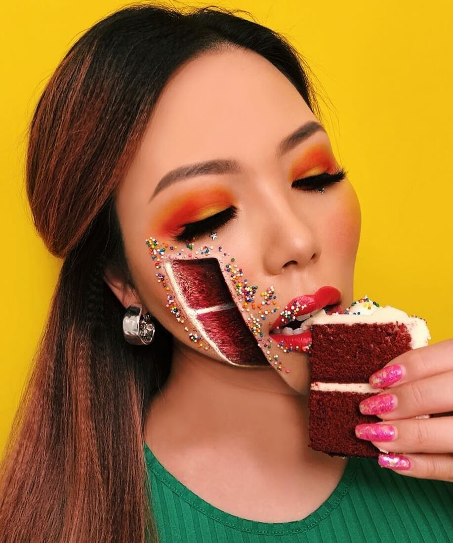 01-Cake-Time-Mimi-Choi-Optical-Illusions-Body-Painting-Makeup-Effects-NO-Photoshop-www-designstack-co