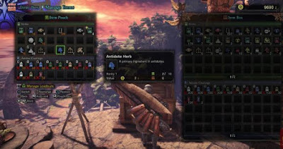 Expand Inventory Space, Monster Hunter World, Item Box