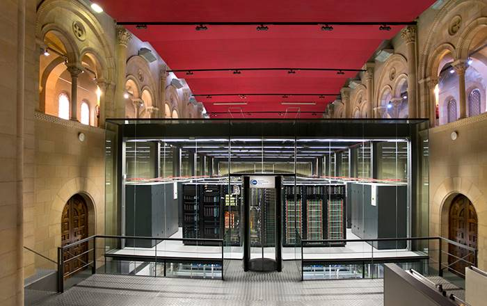 The Supercomputer MareNostrum is installed in Torre Girona Chapel