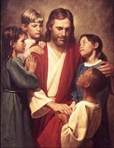 "Jesus said, ""Let the little children come to me, and do not hinder them, for the kingdom of heaven"