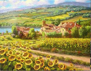 pintura-campos-pueblos-impresionismo