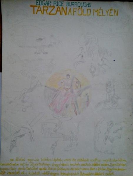 Tarzan a Föld mélyén saját rajz könyvből lerajzolva