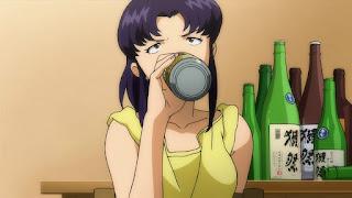 Katsuragi z NGE pije browara