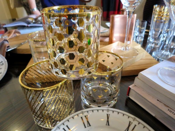 Gold highball glasses