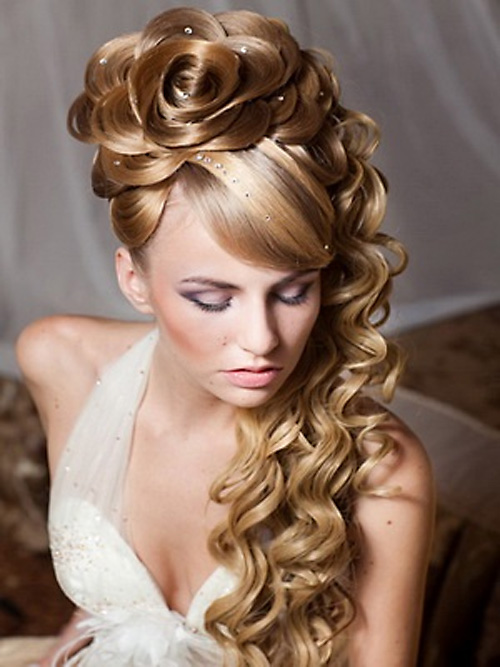 Cute Hairstyles For Prom cute casual prom hairstyle for long curly hair Cute Hairstyles For Long Hair For Prom 74