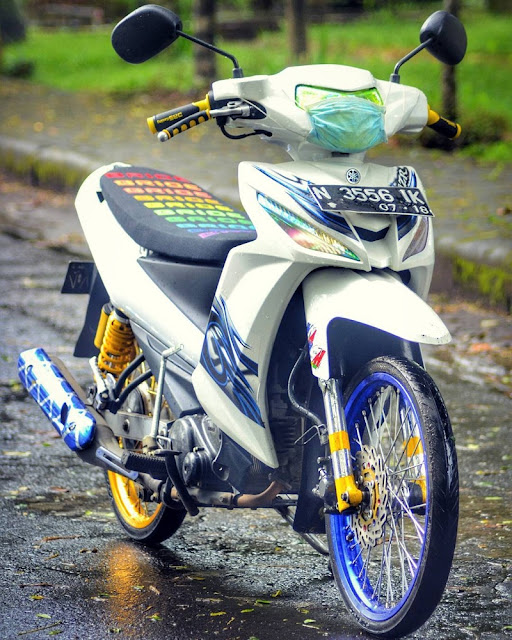 Vega RR Putih Modif Ala Thailook Simple