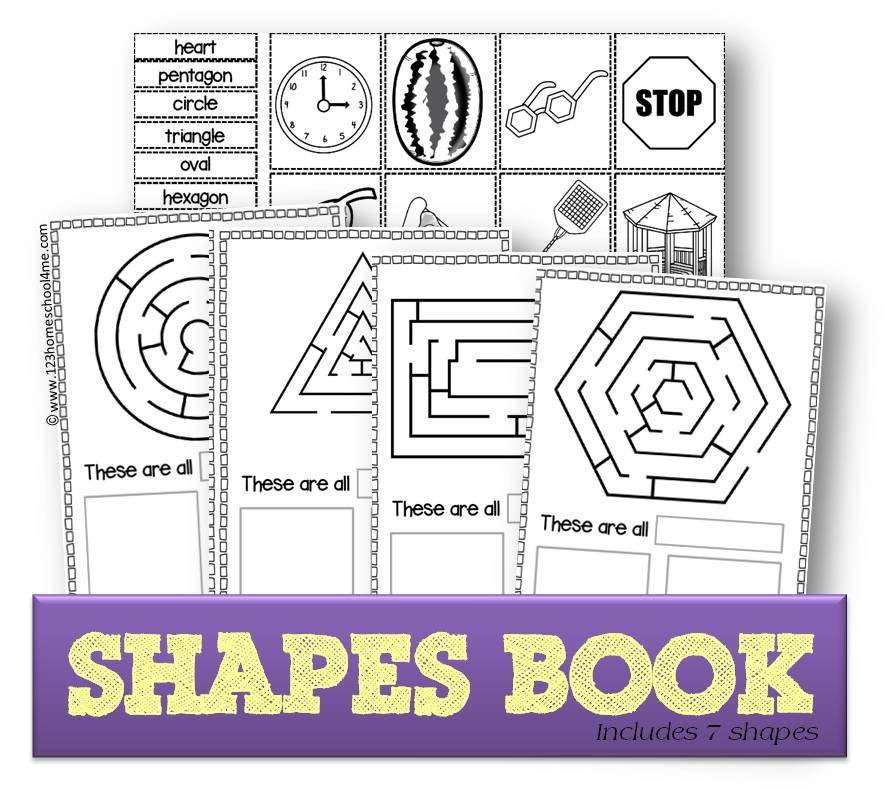 FREE Cut & Paste Shapes Book
