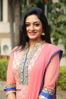 Actress Vimala Raman Stills in Beautiful Pink Salwar Kameez at (ONV) Om Namo Venkatesaya Press Meet  0143.JPG
