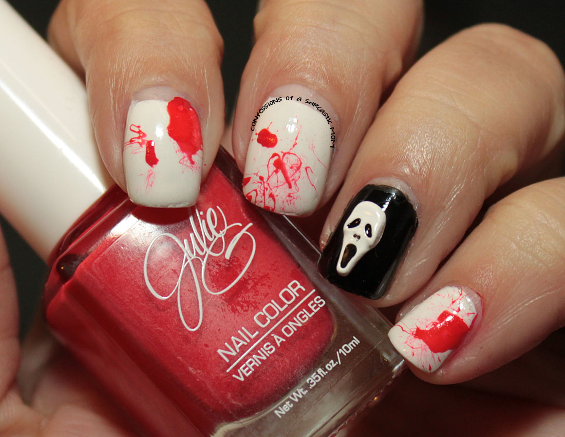 My Halloween nails with Julie G and Lady Queen ...