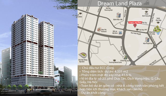 Vị trí dự án chung cư Dream Land Plaza