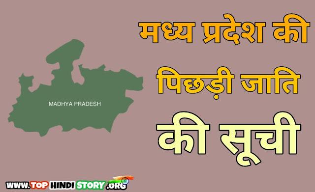 OBC Caste List in MP Madhya Pradesh