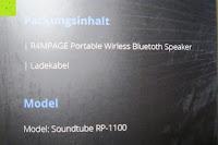 Inhalt: R4mpage RP-1100 Bluetooth Lautsprecher 10Watt mit LED Farbwechselmodus, und Mikrofon für Freisprechfunktion