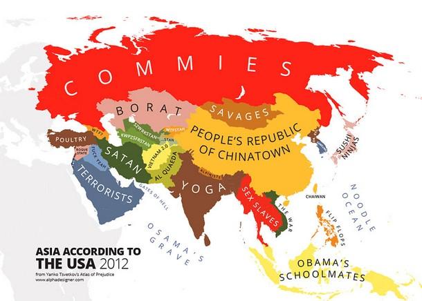 Asia According to USA 2012