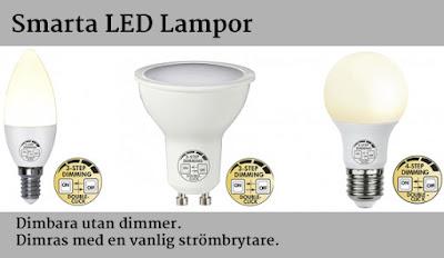 Dimbara LED Lampor