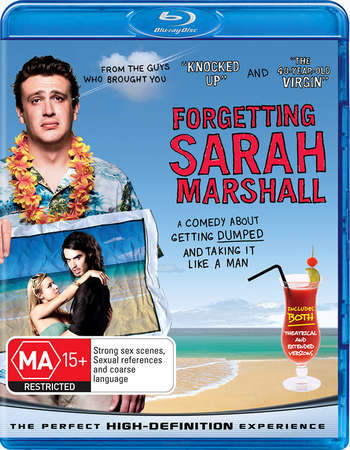 Poster Of Forgetting Sarah Marshall 2008 English 350MB BRRip 480p Free Download Watch Online