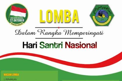Poster Lomba Hari Santri