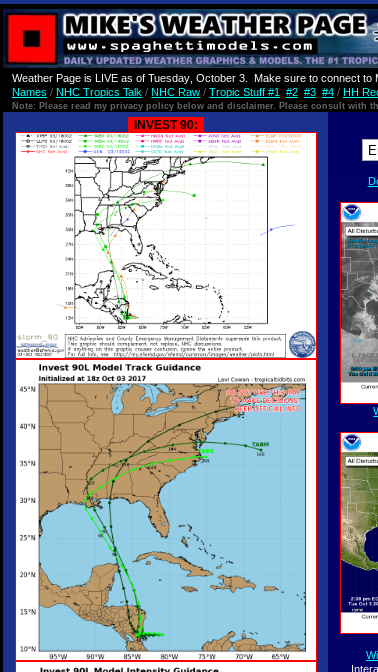 Hurricane Harbor: UPDATED Invest 90L Tropics Tuesday    NHC