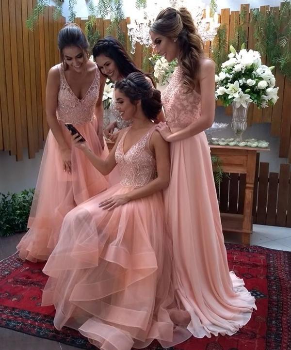 vestido de festa rosa madrinhas