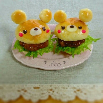 Burger bentuk beruang