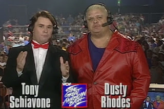 WCW Great American Bash 1996 - Tony Schiavone & Dusty Rhodes hosted the event