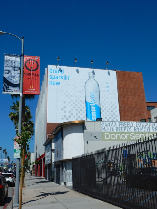 Brand sparklin new Smartwater billboard