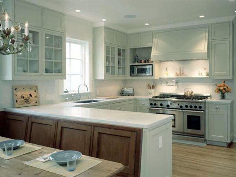 u shaped kitchen design 4