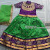 Green and Purple Latest lehenga for Kids
