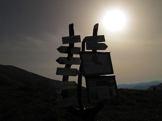 Rozstaj szlaków przy Chacie Štefánika.