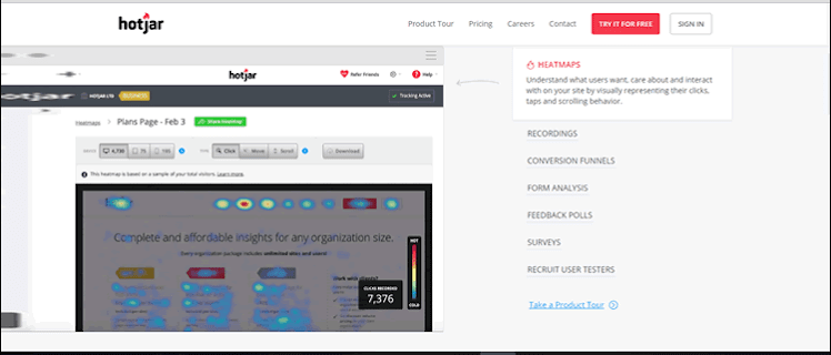 Optimise your business website with Hotjar