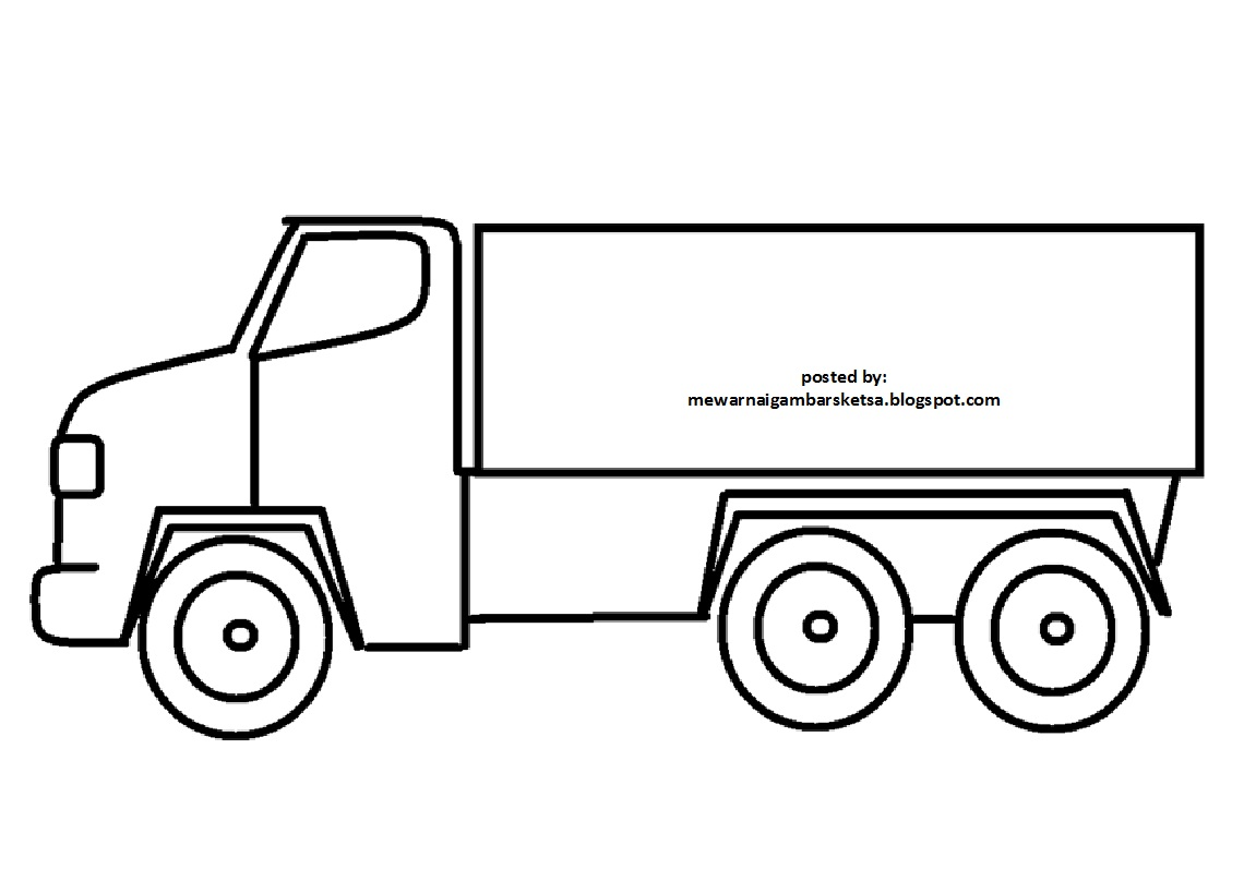 Sketsa Gambar Alat Transportasi