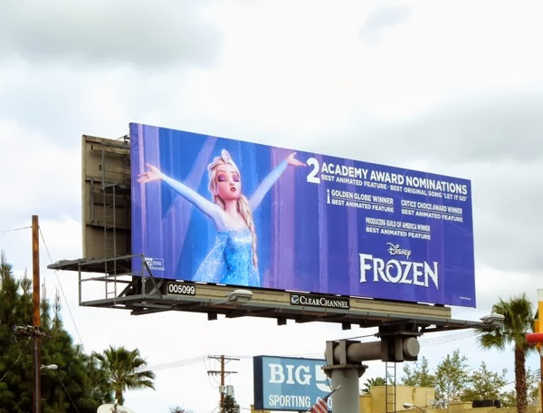Frozen Oscar nomination billboard Studio City