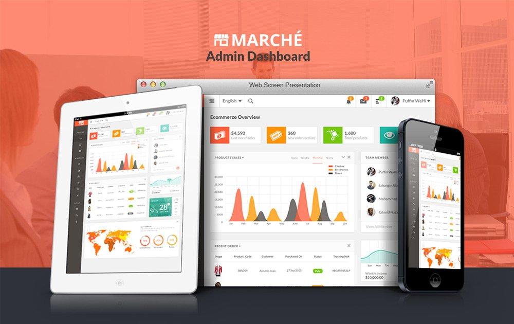 Marche – Free Dashboard UI PSD