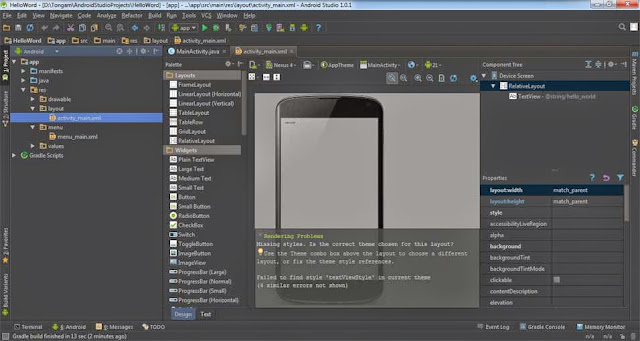 Aplikasi Sederhana Di Androdi Studio