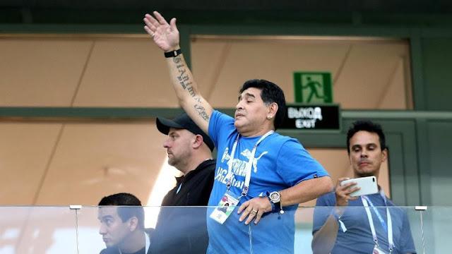 Maradona 'Menangis' Lihat Argentina Dilumat Kroasia