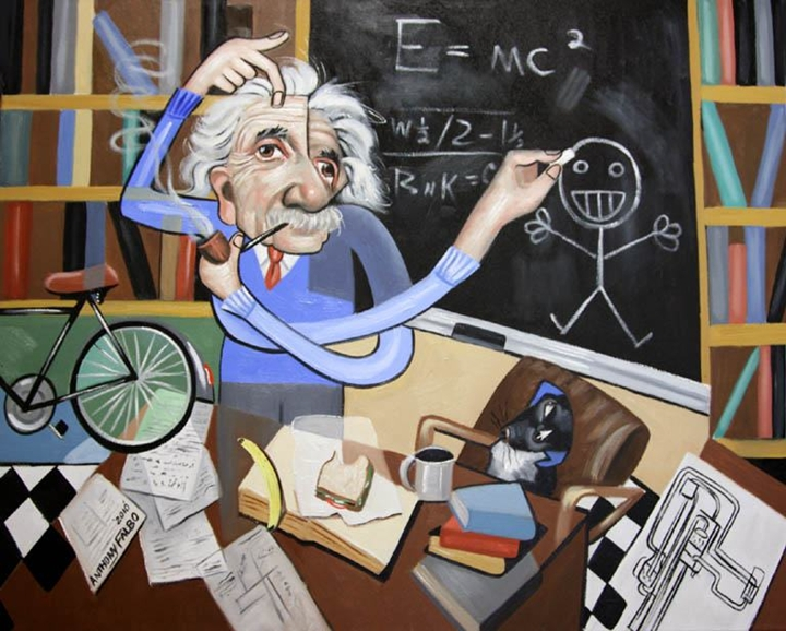 Anthony Falbo 1953 | American Cubist painter | Albert Einstein 1879-1955